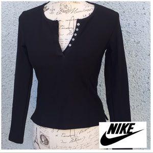 NIKE Women's Long sleeve athletic Black Top